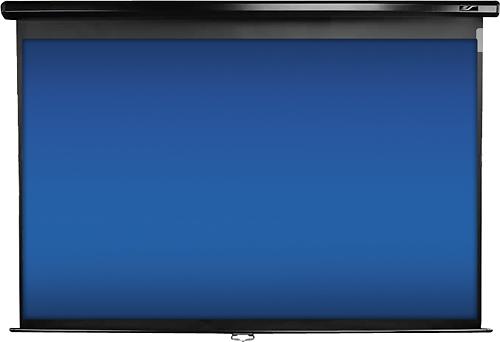 "Elite Screens - Manual Series 100"" Pull-Down Projector Screen - Black"