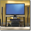 "Bell'O - TV Stand for Flat-Panel TVs Up to 46"" - Black"