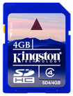 Kingston Technology - 4 GB Secure Digital High Capacity (SDHC) - 1 Card