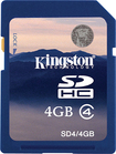 Kingston Technology - 4 GB Secure Digital High Capacity (SDHC) - 1 Card - Blue