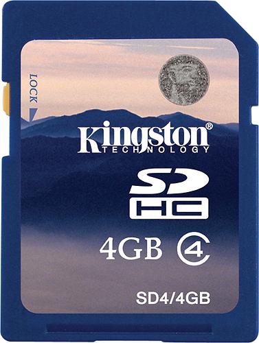 Kingston - 4 GB Secure Digital High Capacity (SDHC) - 1 Card - Blue