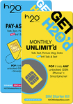 H2O Wireless - Prepaid Wireless SIM Card - Blue