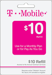 T-Mobile - $10 Wireless Airtime Refill Card - Multi