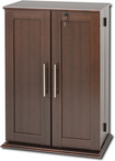 Ashlin - 376-Disc Media Storage Cabinet - Espresso