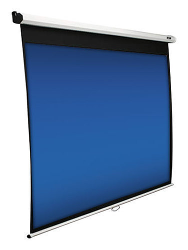 Elite Screens - Manual Series 84 Pull-Down Projector Screen - White