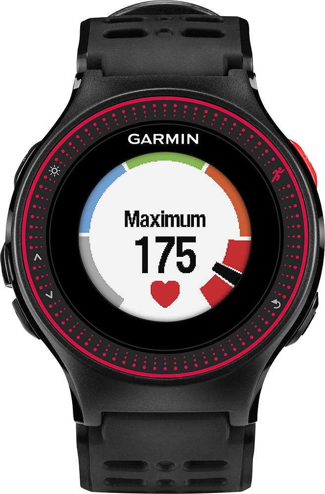 Garmin - Forerunner 225 Sport Watch - Black/red