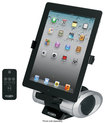 Jensen - Docking Speaker Station for Apple® iPad®, iPod® and iPhone® - Black/Silver