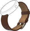 Motorola - Leather Band for Moto 360 Smart Watches - Cognac