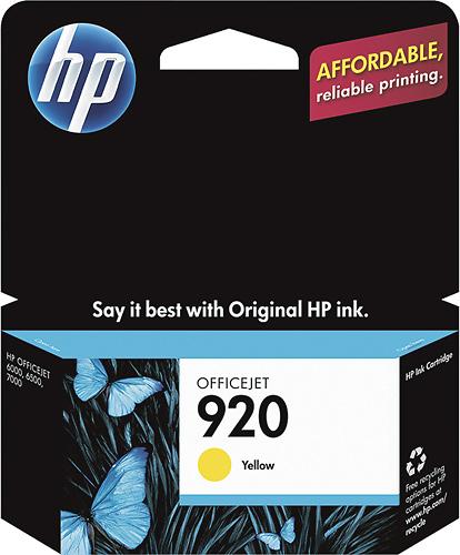 HP - 920 Ink Cartridge - Yellow
