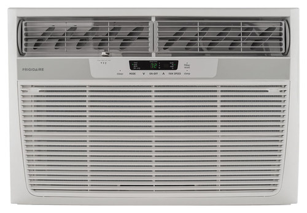 Frigidaire - Home Comfort Median 18,500 BTU Through-the-Wall/Window Air Conditioner and 16,000 BTU Heater - White
