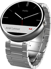 Motorola - Moto 360 Smart Watch for Select Android Devices - Natural Silver