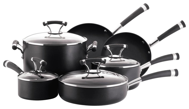 Circulon - Contempo 10-Piece Cookware Set - Black