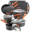 Rachael Ray - Hard Anodized II 12-Piece Cookware Set - Orange Gradient