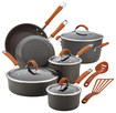 Rachael Ray - Cucina 12-piece Cookware Set - Gray/orange 9684487