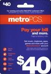 MetroPCS - $40 Payment Card