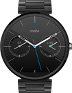 Motorola - Moto 360 Smart Watch for Select Android Devices - Dark Metal