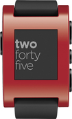 Pebble - Smartwatch for Select Apple® and Android Devices - Red