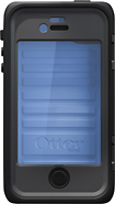 OtterBox - Armor Series Case for Apple® iPhone® 4 and 4S - Ocean Blue/Slate Gray