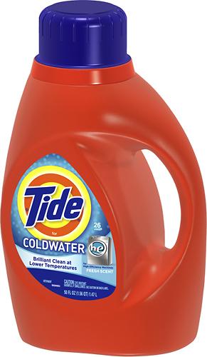 Tide - Coldwater 50 Oz. High-Efficiency Liquid Detergent - Black