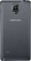 Samsung - Wireless Charging Cover for Samsung Note 4 Cell Phones - Black