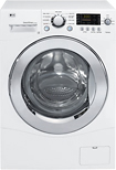 LG - 2.3 Cu. Ft. 9-Cycle Ultra Capacity Compact Washer - White