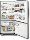 GE - 20.3 Cu. Ft. Frost-Free Bottom-Mount Refrigerator - CleanSteel