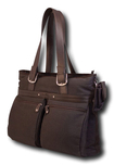 """Mobile Edge - Eco-Friendly Carrying Case (Tote) for 17"""" Notebook - Brown"""