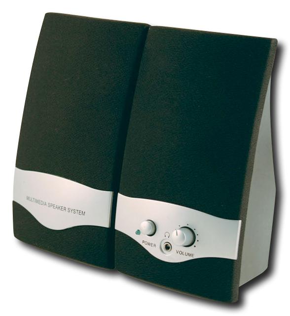 Axis - 2.0 Multimedia Speaker System (2-Piece) - Black