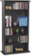 Atlantic - Drawbridge Multimedia Storage Cabinet - Black