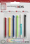Nintendo - Universal Rainbow Stylus 6-Pack for Nintendo 3DS, DS Lite, DSi and DSi XL