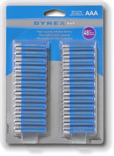 Dynex™ - AAA Alkaline Batteries (48-Pack)