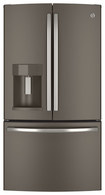 GE - 25.7 Cu. Ft. French Door Refrigerator with Thru-the-Door Ice and Water - Slate