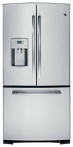 GE - Profile Series 22.8 Cu. Ft. Frost-Free French Door Refrigerator with Thru-the-Door Water - Stainless-Steel