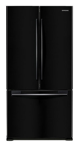 Samsung - 17.5 Cu. Ft. Counter-Depth French Door Refrigerator - Black