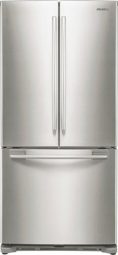 Samsung - 17.5 Cu. Ft. Counter-Depth French Door Refrigerator - Stainless Steel