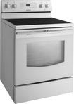"Samsung - 30"" Self-Cleaning Freestanding Electric Range - White"