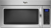 Whirlpool - 1.9 Cu. Ft. Over-the-Range Microwave - Black-on-Stainless