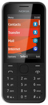 Nokia - 208 Cell Phone (Unlocked) - Black