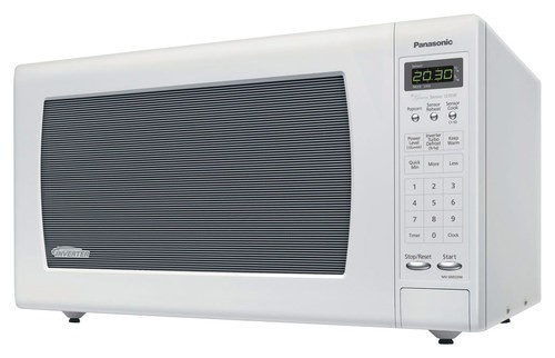Panasonic - 2.2 Cu. Ft. Full-Size Microwave - White