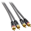 Rocketfish™ - 4' Stereo Audio RCA Cable - Gray