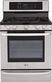 "LG - 30"" Self-Cleaning Freestanding Gas Convection Range - Stainless-Steel"