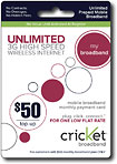 Cricket - Broadband $50 Airtime Card