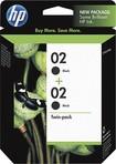 HP - 02 2-Pack Black Original Ink Cartridges - Black