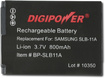 Digipower - Lithium-ion Battery For Select Samsung Digital Cameras