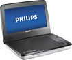 "Philips - 9"" Widescreen TFT-LCD Portable DVD Player - Silver/Black"