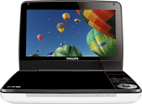 Philips - 9 Widescreen TFT-LCD Portable DVD Player - Silver/Black