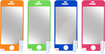 Dynex™ - Screen Protectors for Apple® iPhone® 5 and 5s (4-Pack) - Blue/Green/Orange/Pink