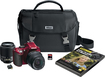 Nikon - D5200 DSLR Camera with 18-55mm and 55-200mm Lenses - Red