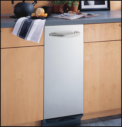 GE Profile - Profile 1.4 Cu. Ft. Built-In Trash Compactor - White