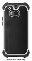 Ballistic - Tough Jacket Maxx Case with Holster for HTC One (M8) Cell Phones - White/Black